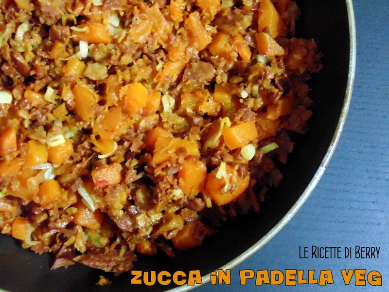 Zucca in padella con muscolo di grano - Zucca in Padella Vegan con Muscolo di Grano