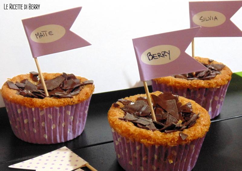 Cupcake con gocce di cioccolato senza uova - Cupcakes con Gocce di Cioccolato senza Uova e Burro