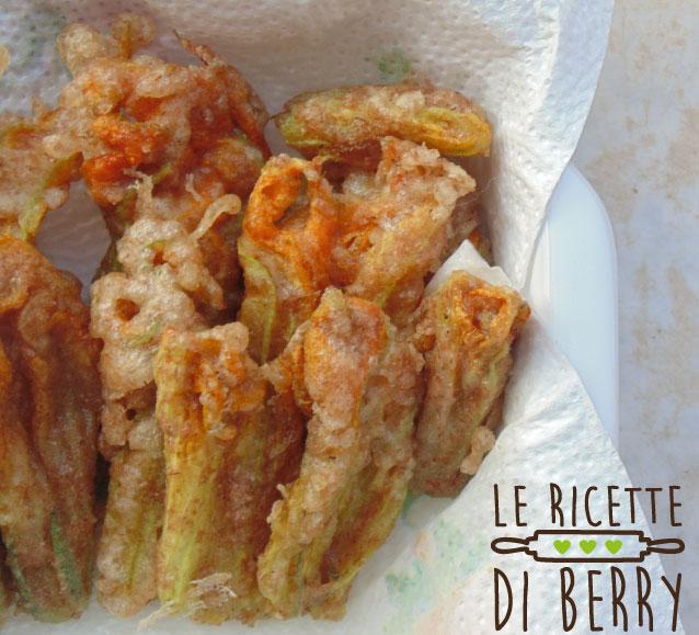 fiori di zucca fritti - Fiori di Zucca Fritti senza Uova con Pastella integrale