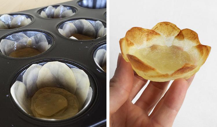 preparazione - Mini cestini ai funghi - ricette-vegane-dal-web-