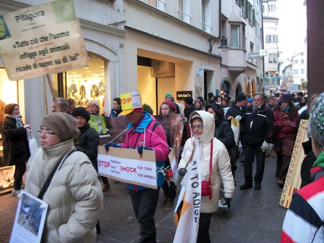bolzano 04021012 20120205 1784311573 - Bolzano 04.02.2012 manifestazione contro lo sfruttamento degli animali