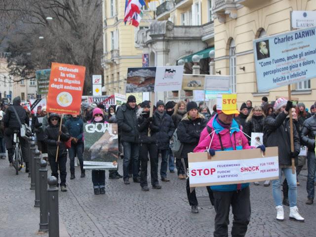 bolzano 04021012 20120205 1895725996 - Bolzano 04.02.2012 manifestazione contro lo sfruttamento degli animali