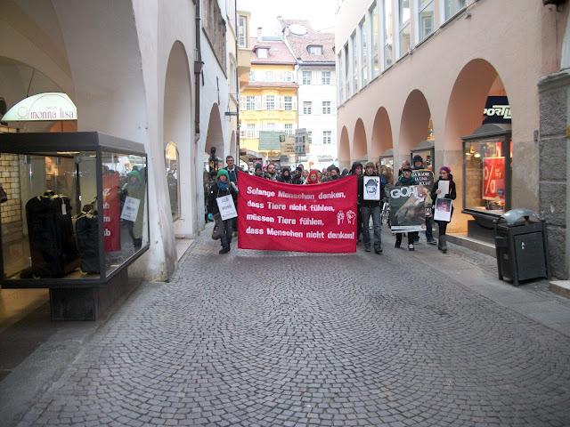 bolzano 04021012 20120205 1998688652 - Bolzano 04.02.2012 manifestazione contro lo sfruttamento degli animali