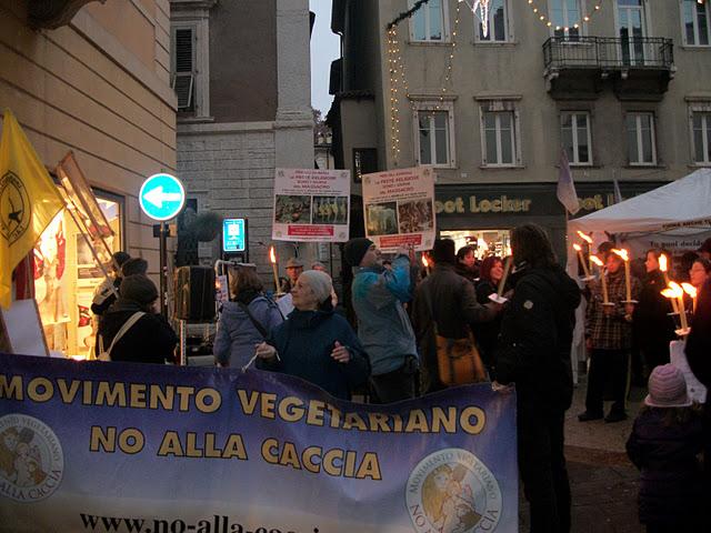 fiaccolata per gli ani 20130212 1992364479 - 03 dicembre 2011 Trento fiaccolata per denunciare lo sterminio degli animali nel periodo natalizio (e non solo!) - 2011-