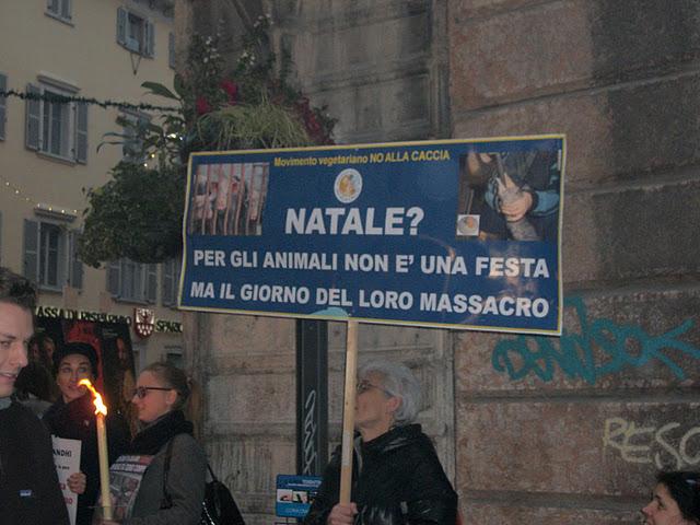 fiaccolata per gli animali 20111210 1348270119 - 03 dicembre 2011 Trento fiaccolata per denunciare lo sterminio degli animali nel periodo natalizio (e non solo!)