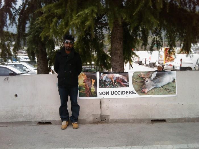 img 1775 20110327 1938343363 - Riva del Garda 26.03 - Sit-in contro la fiera della caccia e della pesca