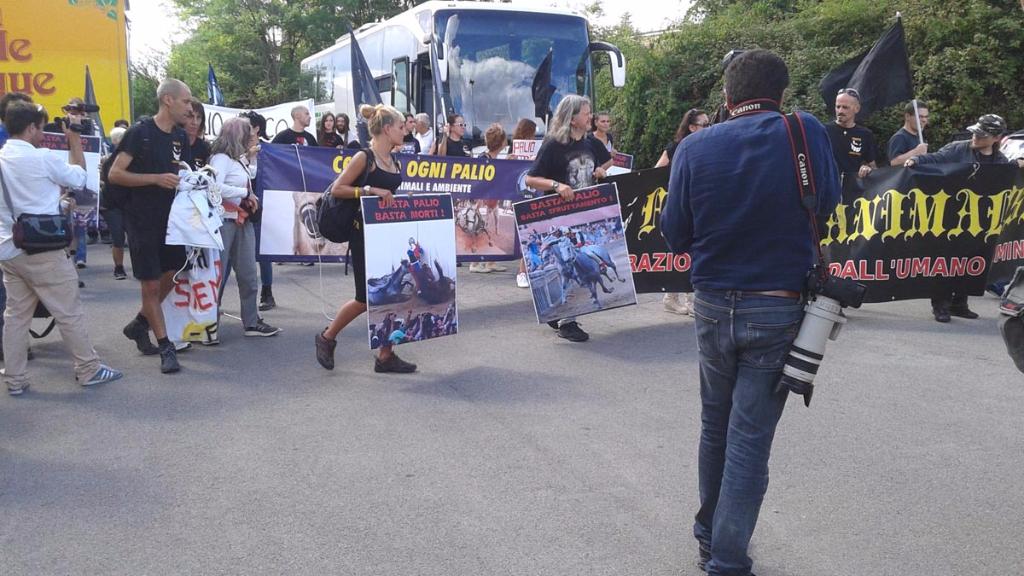 immagini e video 2015 465 - Manifestazione contro il Palio di Siena - 16.08.2015