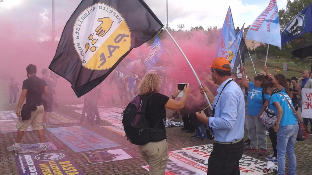 immagini e video 2015 496 - Manifestazione contro il Palio di Siena - 16.08.2015