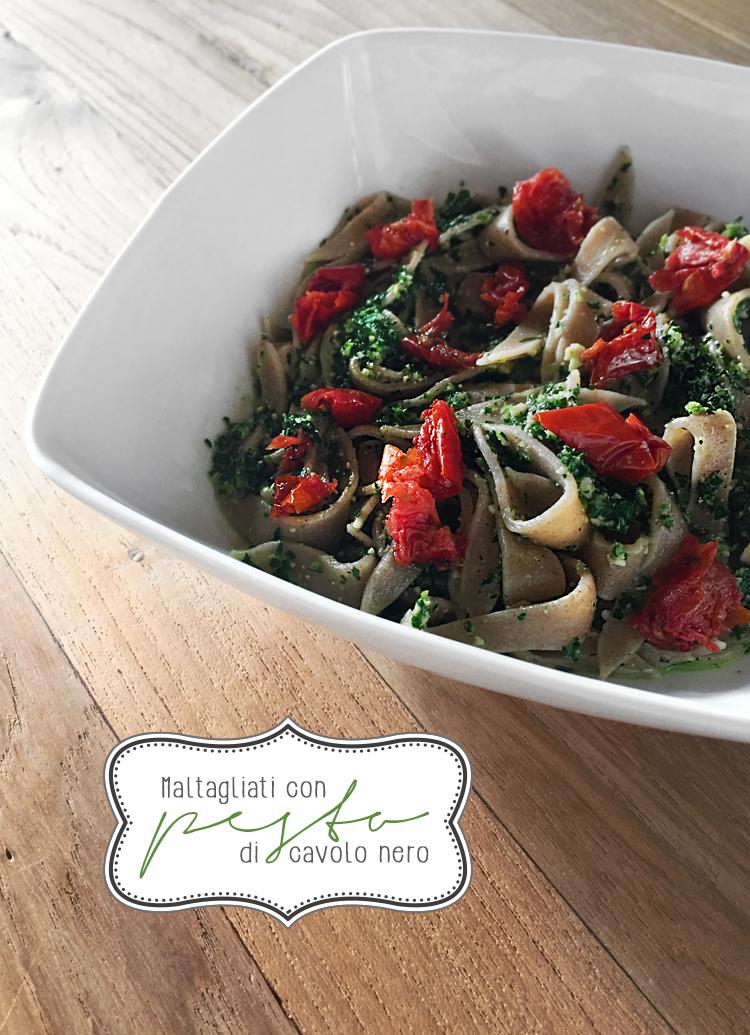 maltagliati - Pesto di cavolo nero - ricette-vegane-dal-web-