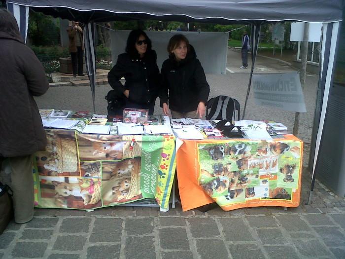 manifestazione 14042012 20120416 1997593952 - 14.04.2012 - BOLZANO - TAVOLO INFORMATIVO CONTRO LA CACCIA E SULL'ALIMENTAZIONE VEGANA