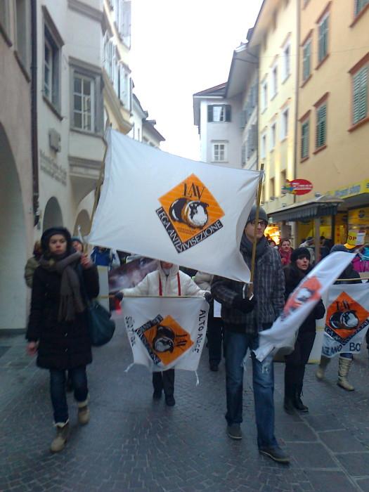 manifestazione contro lo sfruttamento degli anim 20130212 2024057878 - Bolzano 04.02.2012 manifestazione contro lo sfruttamento degli animali - 2012-