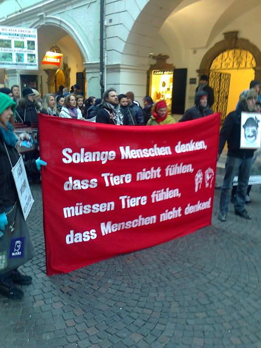 manifestazione contro lo sfruttamento degli animali 20120205 1302674482 - Bolzano 04.02.2012 manifestazione contro lo sfruttamento degli animali - 2012-