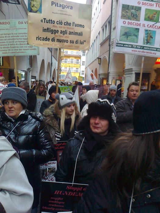 manifestazione contro lo sfruttamento degli animali 20120205 1320738429 - Bolzano 04.02.2012 manifestazione contro lo sfruttamento degli animali - 2012-