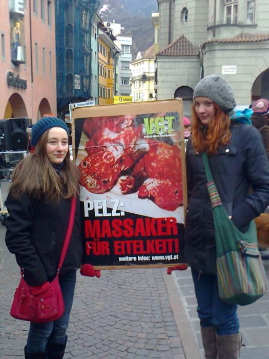 manifestazione contro lo sfruttamento degli animali 20120205 1358067831 - Bolzano 04.02.2012 manifestazione contro lo sfruttamento degli animali