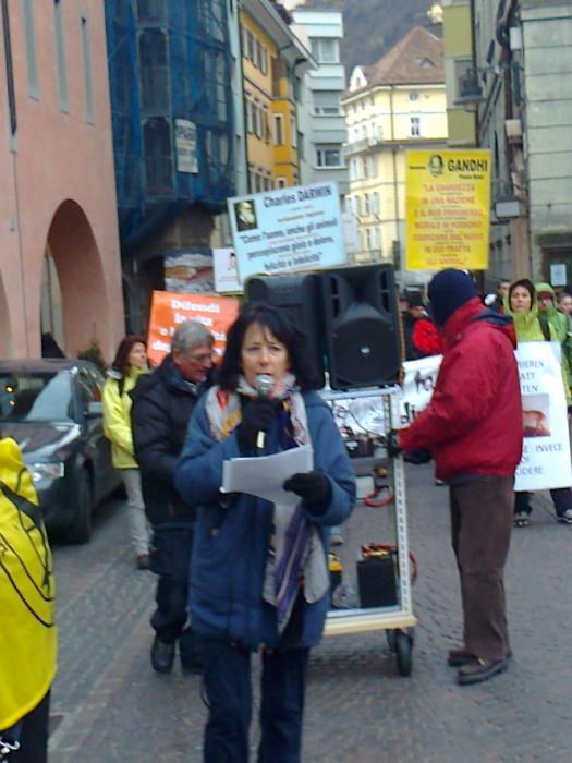 manifestazione contro lo sfruttamento degli animali 20120205 1437191033 - Bolzano 04.02.2012 manifestazione contro lo sfruttamento degli animali