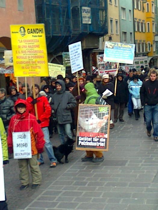 manifestazione contro lo sfruttamento degli animali 20120205 1589759176 - Bolzano 04.02.2012 manifestazione contro lo sfruttamento degli animali - 2012-