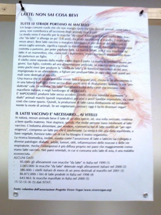 mostra animalista sui macelli 20111101 1956568130 - FA' LA COSA GIUSTA 2011 - MOSTRA ANIMALISTA