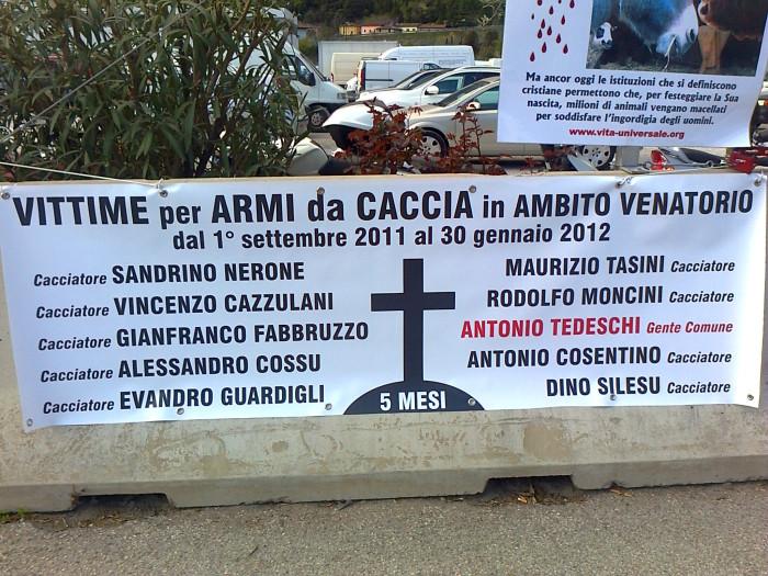 presidio caccia e pe 20130212 1949315673 - Presidio alla Fiera Caccia e Pesca di Riva del Garda 31.03.2012 - 2012-