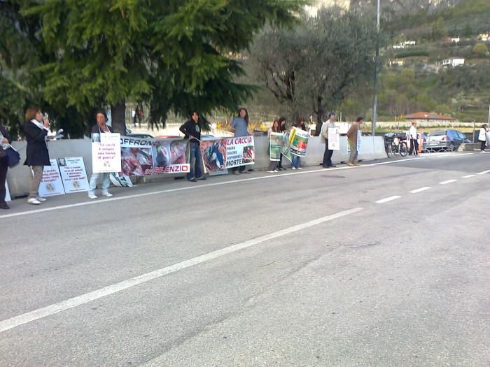 presidio caccia e pesca 20120331 1365759268 - Presidio alla Fiera Caccia e Pesca di Riva del Garda 31.03.2012 - 2012-