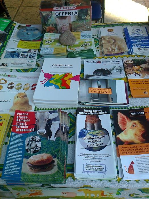 settimana veg mondiale   1 7 ottobre 20111016 1810572926 - TRENTO 15.10.2011- TAVOLO INFORMATIVO PER LA SETTIMANA VEGETARIANA MONDIALE - 2011-