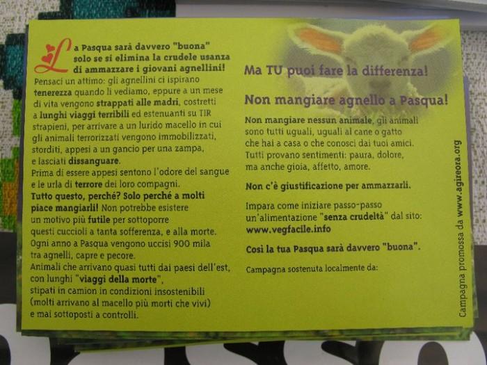 tavolo info massacro pasquale 20110419 1588538801 - 16 aprile 2011 - TAVOLO INFORMATIVO SU MASSACRO AGNELLI E CAPRETTI PERIODO PASQUALE - 2011-