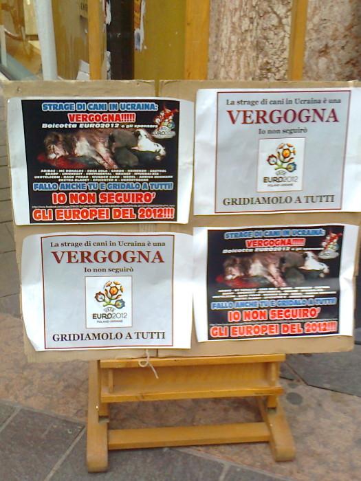 tavolo informativo stile di vita vegan e sul massacro dei cani in ucraina 20120513 1215094237 - TRENTO 12.05.2012 - TAVOLO INFORMATIVO SULLO STILE DI VITA VEGAN E SUL MASSACRO DEI CANI IN UCRAINA
