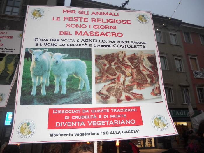 trento 03 dicembre fiaccolata 20111203 1758013174 - 03 dicembre 2011 Trento fiaccolata per denunciare lo sterminio degli animali nel periodo natalizio (e non solo!)