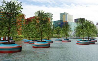 r1 400x250 1 - Nel porto di Rotterdam ideata foresta galleggiante