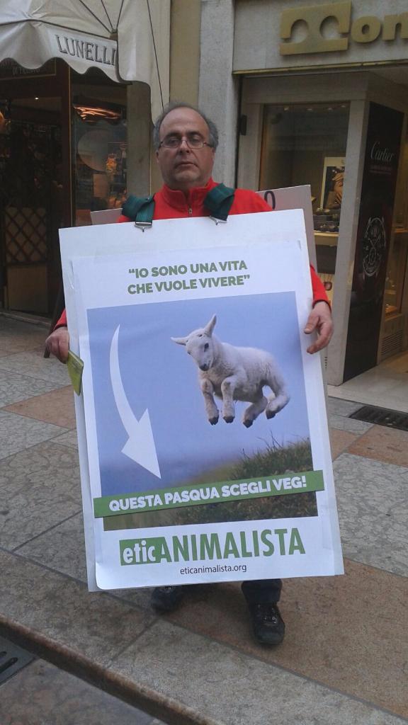 trento manifestazione pasqua difesa agnelli 13 - Manifestazione a Trento in difesa degli agnelli a Pasqua 24-25-26 Marzo - 2016-