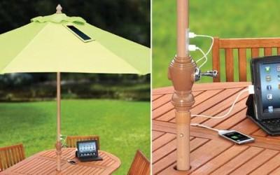 ombrellone solare 400x250 1 - Un ombrellone solare che ricarica il cellulare