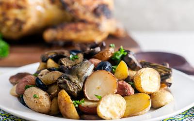 patate carciofi 400x250 1 - Carciofi e patate: ricetta ed ingredienti