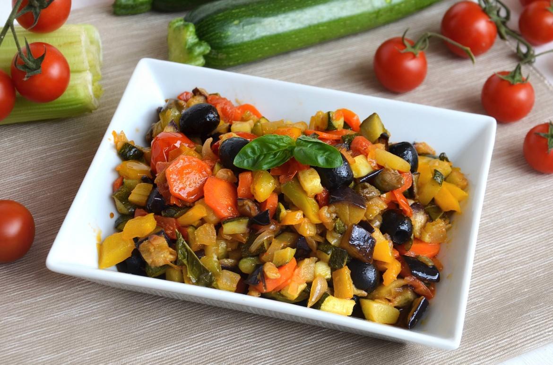 caponata di verdure 1 - Caponata di verdure - ricette-vegane-dal-web-
