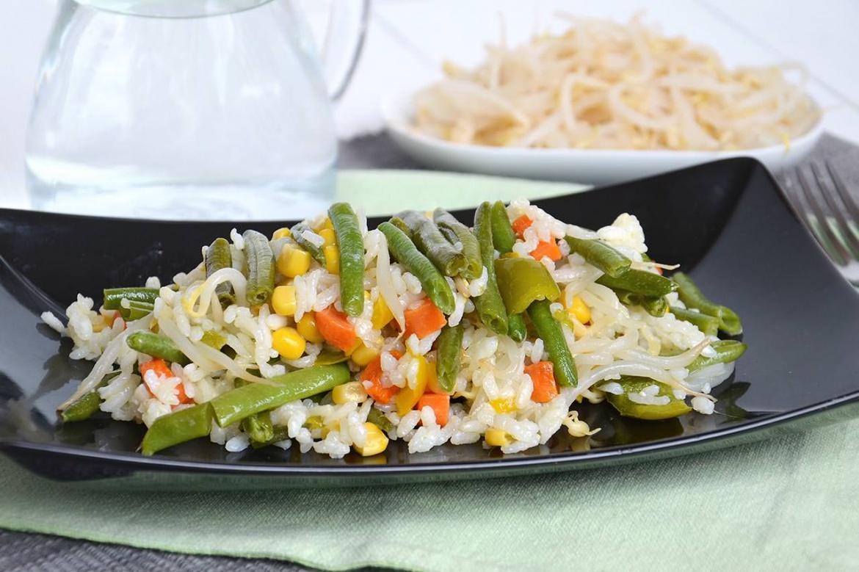 insalata di riso vegetariana 1 - Insalata di riso vegetariana