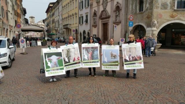 20170415 122336 672x378 640x480 - Manifestazione di protesta contro il massacro Pasquale degli agnelli e capretti 15 Aprile 2017