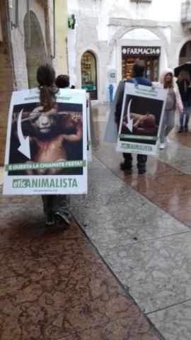 IMG 20170416 WA0019 672x1195 640x480 - Manifestazione di protesta contro il massacro Pasquale degli agnelli e capretti 15 Aprile 2017