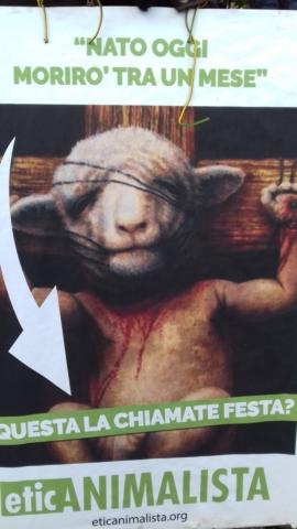 """20180330 172026 672x1195 640x480 - """"A PASQUA NON UCCIDO"""" Manifestazione di protesta contro la strage pasquale di agnelli e capretti - 2018-"""
